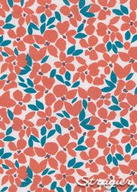 Tissu Mini Florie Cayenne - Stragier - collection UNE