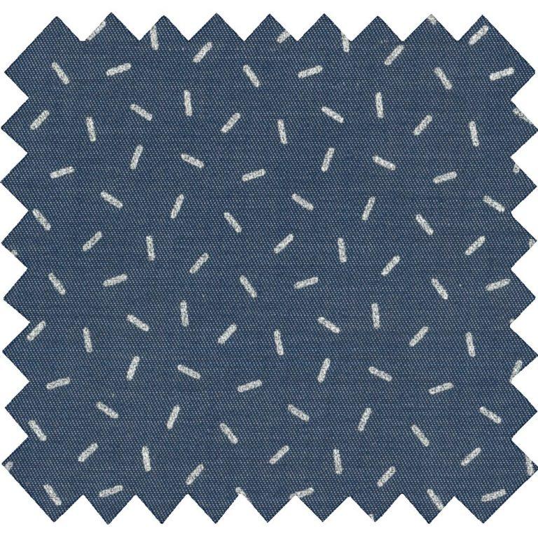 Tissu coton jean paille argenté