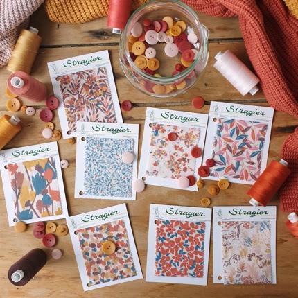 Tissus UNE Allure coloris Cayenne - Stragier