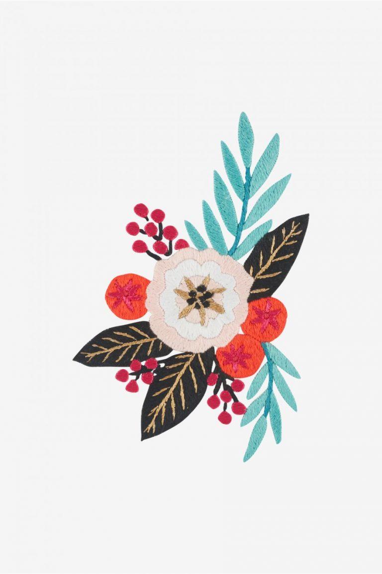 Broderie motif fleur d'été - DMC