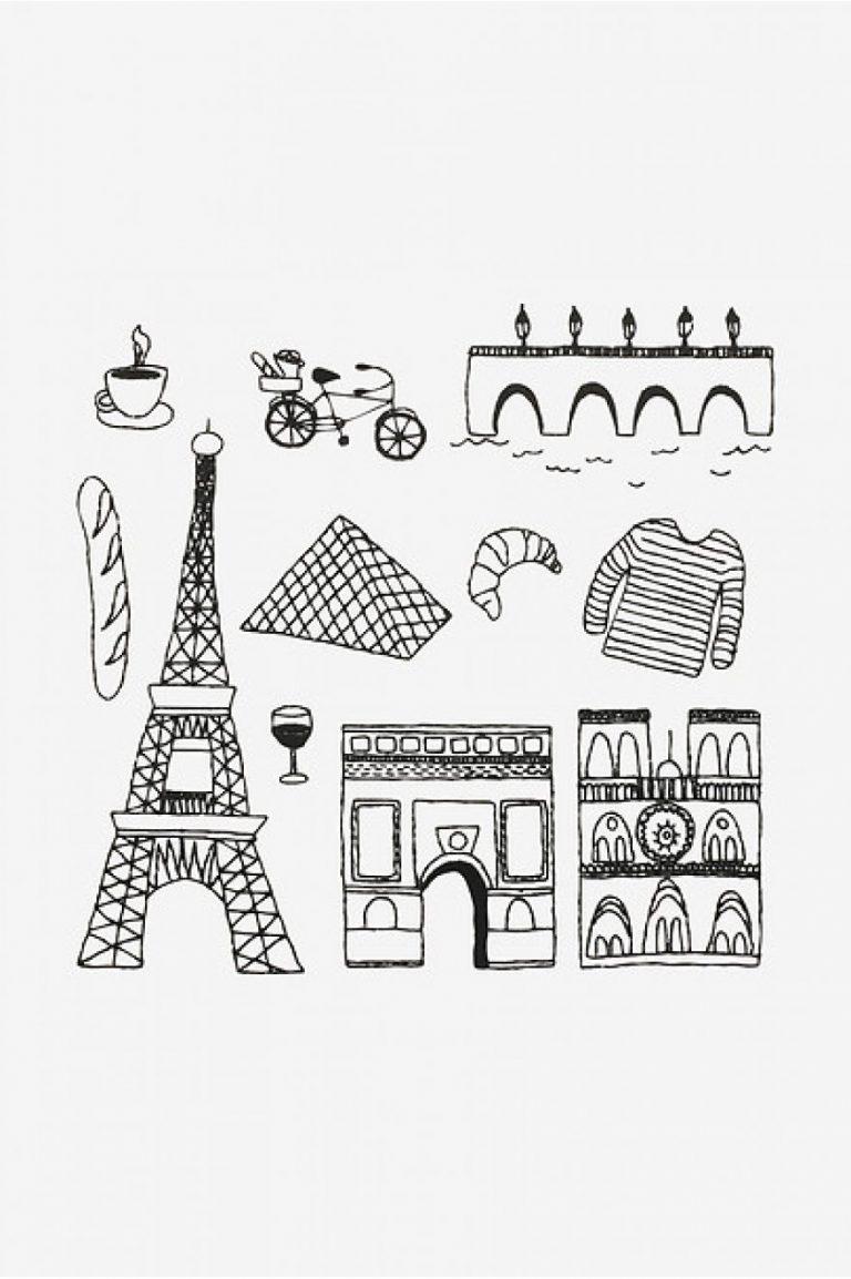Broderie motifs Paris et Tour Eiffel - DMC