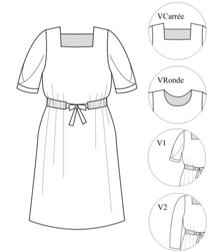 Patron robe Gourmandise - Atelier Maelström