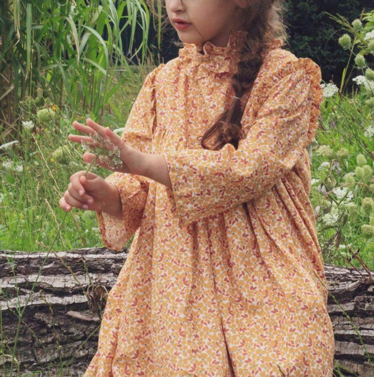 Robe en coton Mini-Florie Millet de Stragier - @precious_family