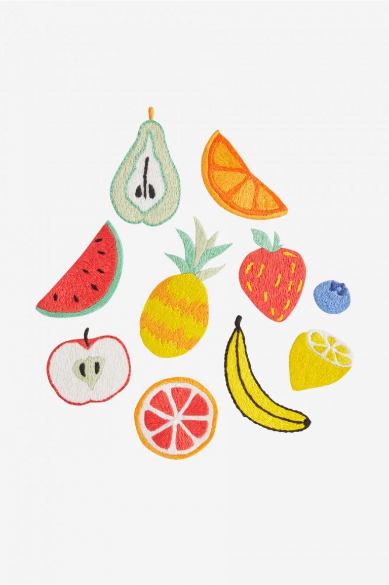 Broderie fruits DMC