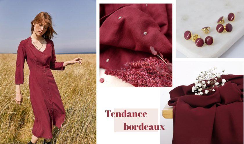 Tendance couture rouge bordeaux