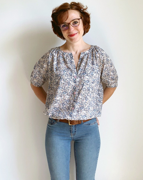 Test de la blouse Campanule par @camille.msc