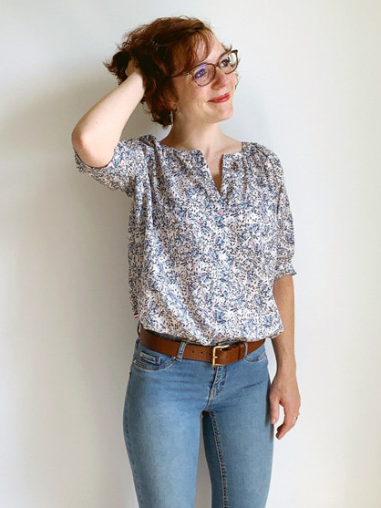 Test de la blouse Campanule réalisée par Camille