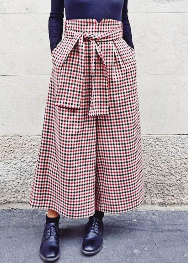 Jupe-culotte carreaux - @io_e_carlotta