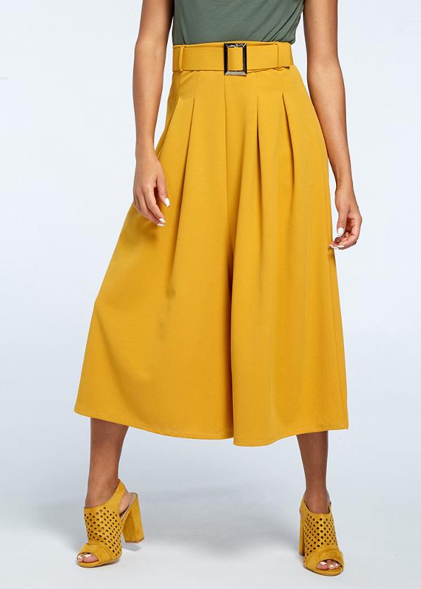 Jupe-culotte jaune safran - Stand Privé