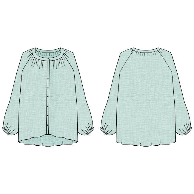 Patron blouse Campanule - Blousette Rose