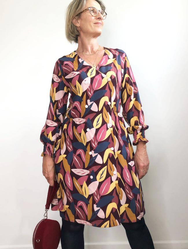 Robe Croisette par Carole @lamaisonsixchouettes