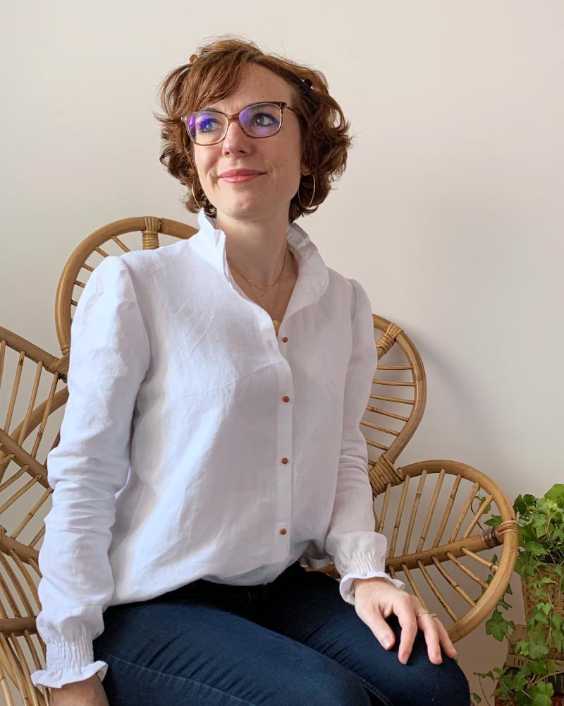 Revue de la chemise Hazel par @camille.msc - patron Joli Lab