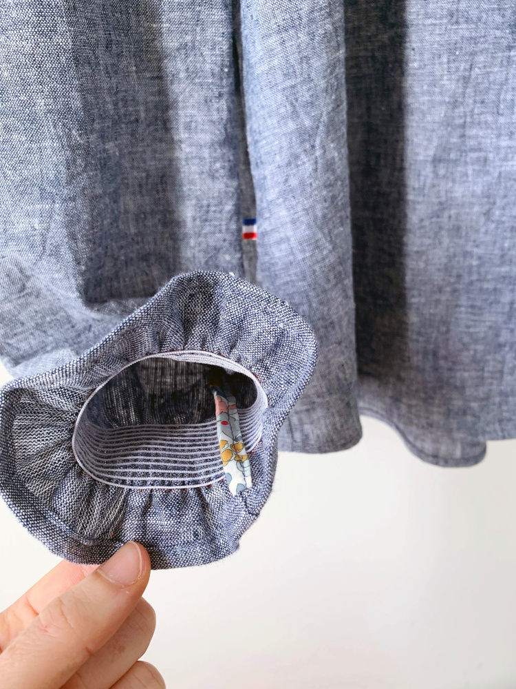 Détails poignets de la chemise Hazel