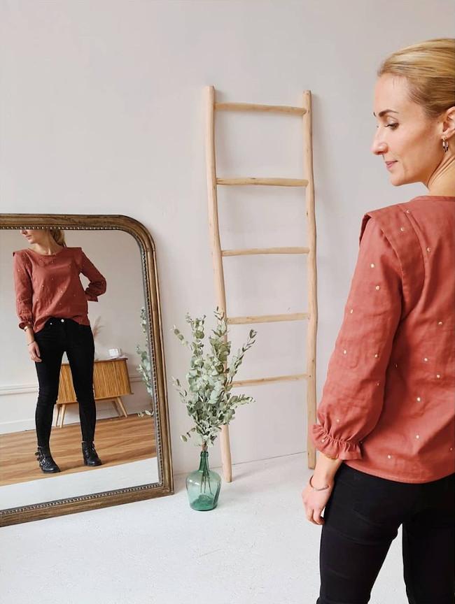 Prototype de la blouse Olivia