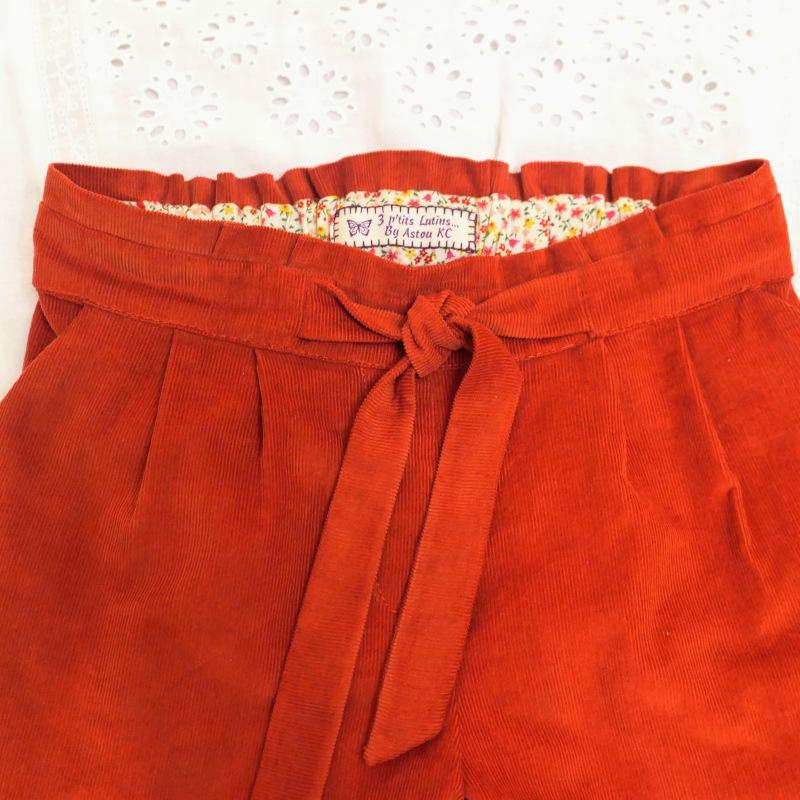 Détails ceinture du pantalon Aura - Rose des Vents