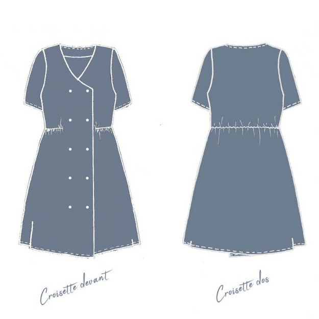 Patron robe Croisette - Cousette Singulière