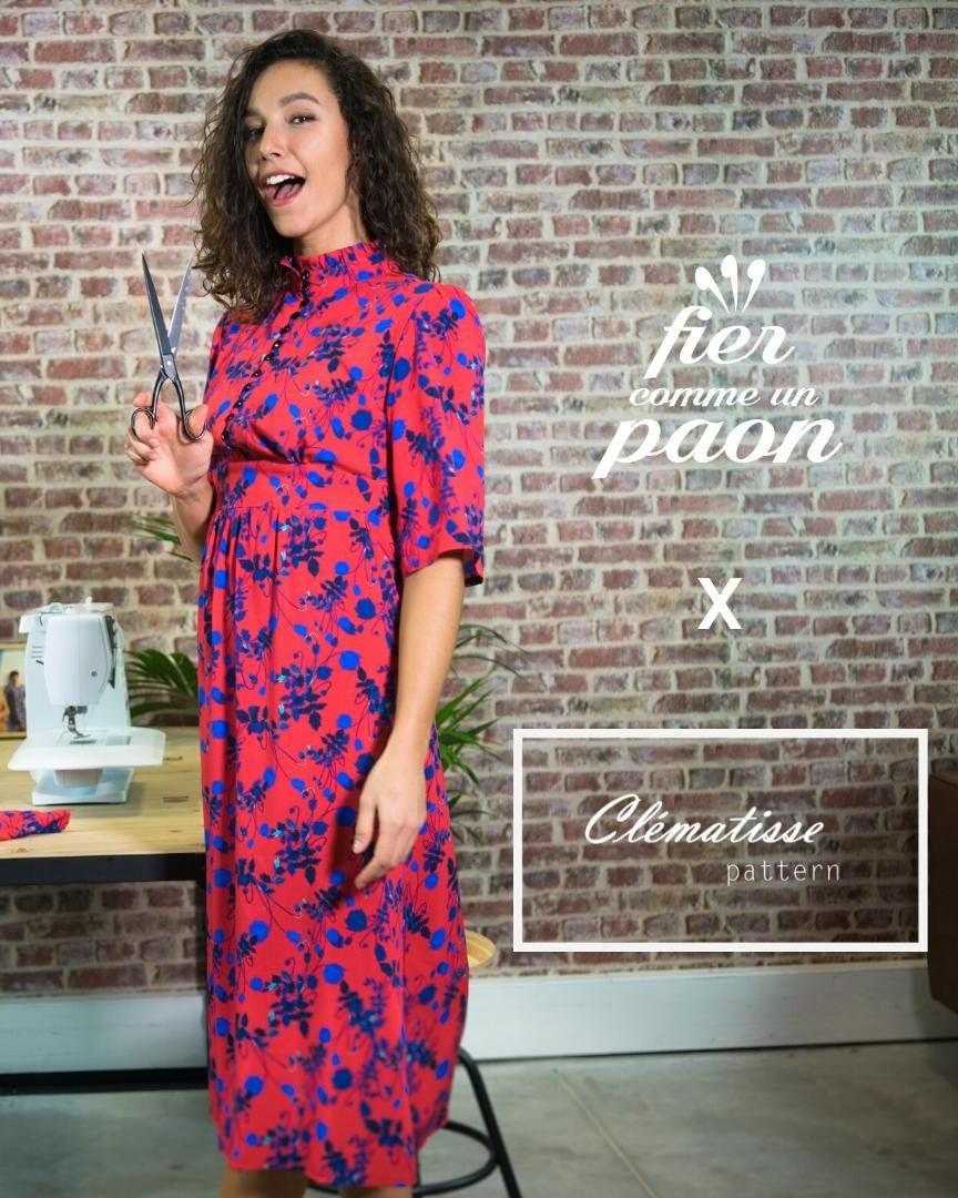 Robe Emma - Clematisse pattern