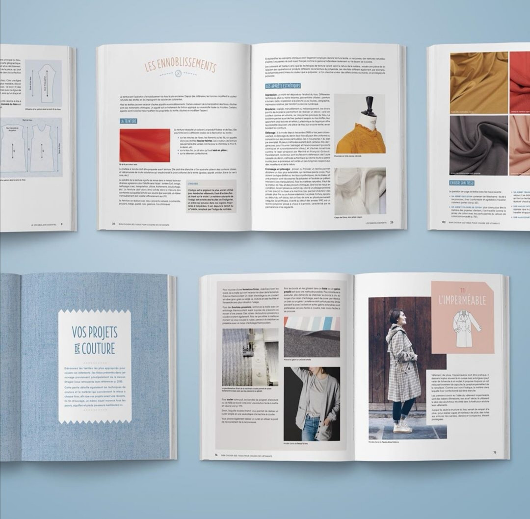 """Livre """"Bien choisir ses tissus"""" par Christelle Beneytout chez Eyrolles"""