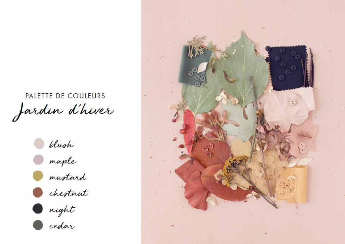 Palette de couleurs Jardin d'hiver - Atelier Brunette
