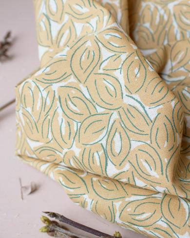 Gaze de coton Petal mustard - Atelier Brunette