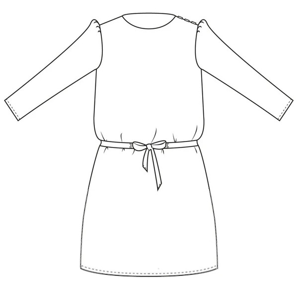 Patron robe Daphné - Joli Lab