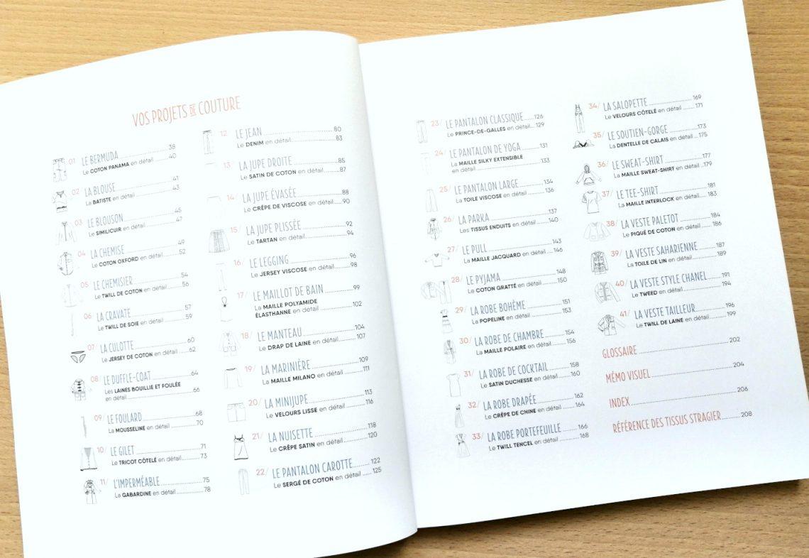 Sommaire de la partie 2 - Guide par projets de couture
