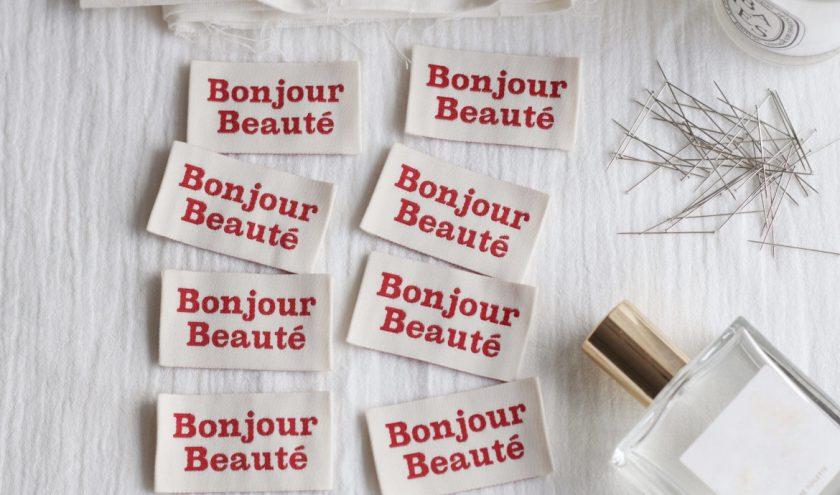 Etiquettes bonjour beauté - La Petite Maison Couture