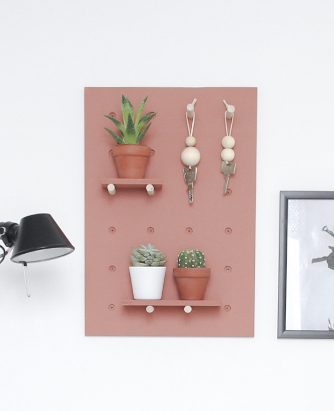 DIY pegboard terracotta - Shake My Blog