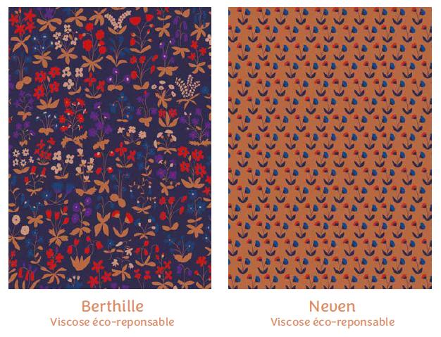 Tissus Berthille et Neven- collection mille fleurs - Madame Iris