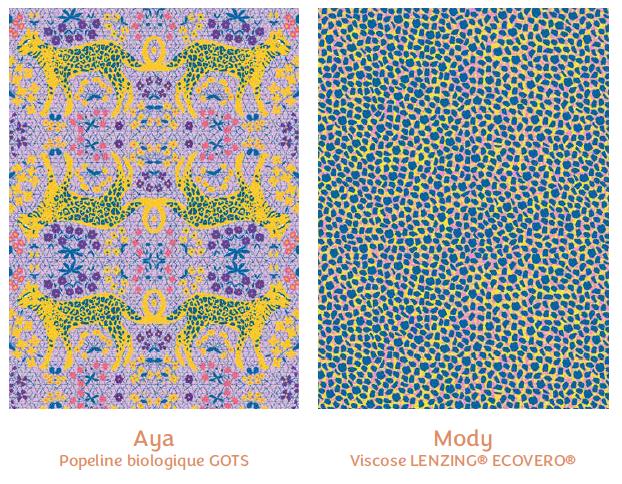 Tissus Aya et Mody - collection royaume des fleurs - Madame Iris