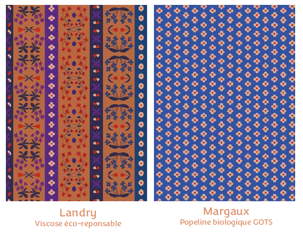 Tissus Landry et Margaux - collection mille fleurs - Madame Iris