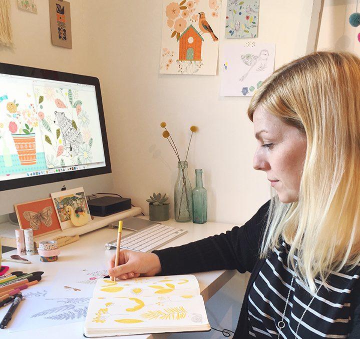 L'illustratrice Bethan Janine