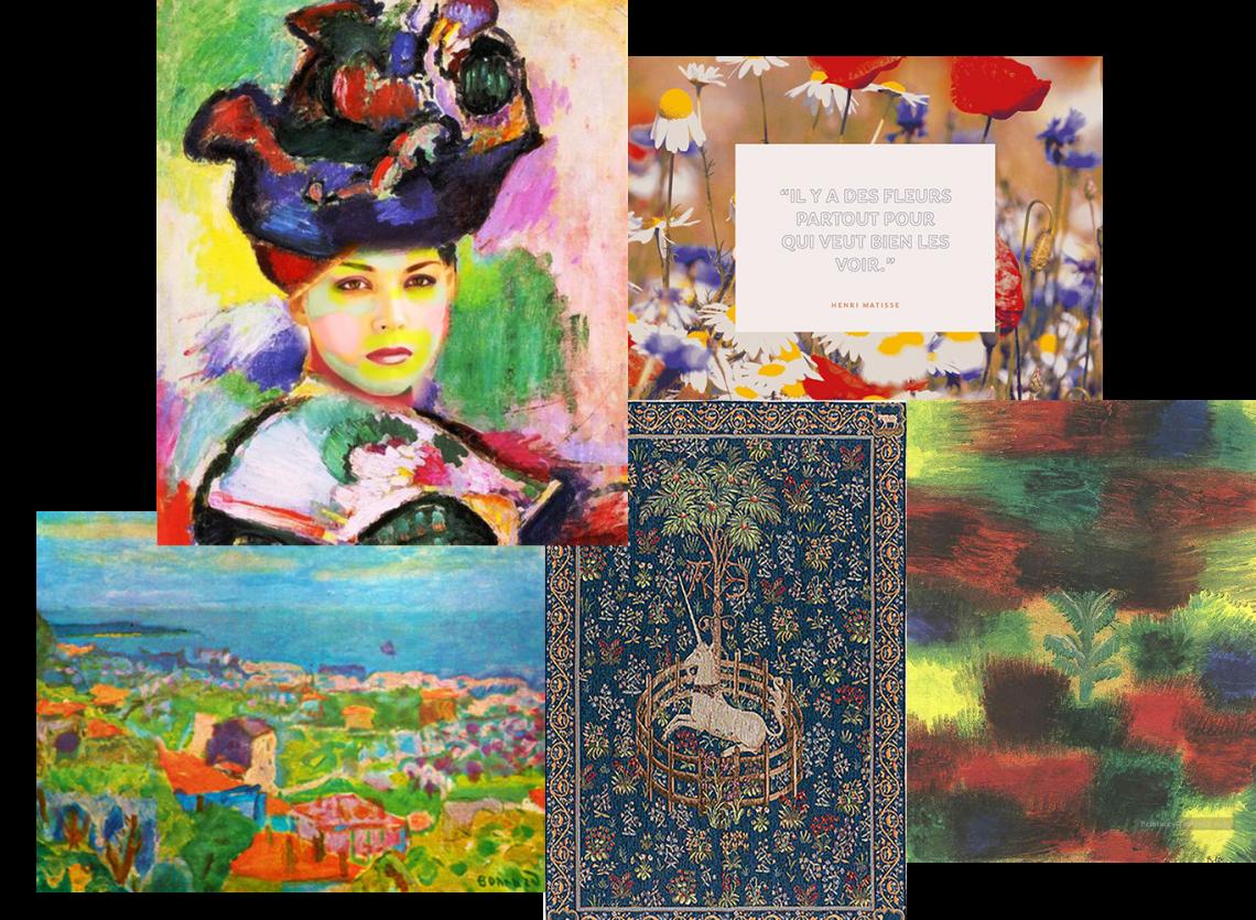 tableaux inspiration tissus - Madame Iris
