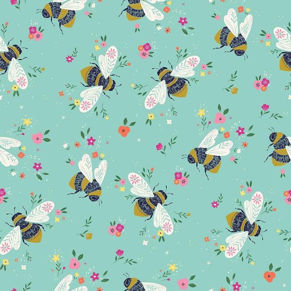 "Popeline coton bio ""Faith"" abeilles"