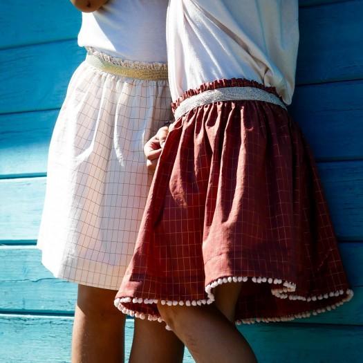 Tuto jupe élastiquée fille Daisy - pm patterns