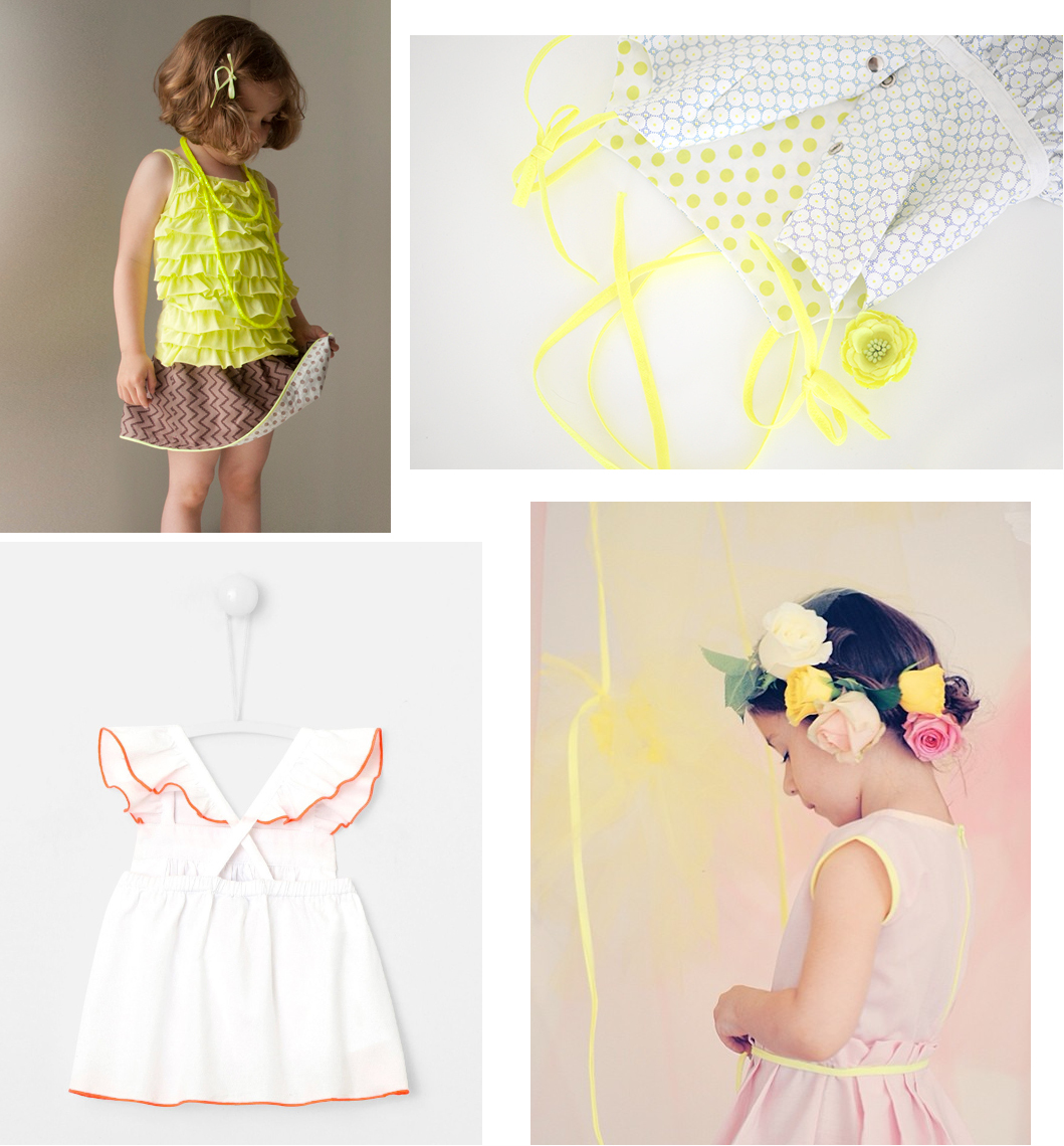 Inspirations couture fluo - vêtements enfant