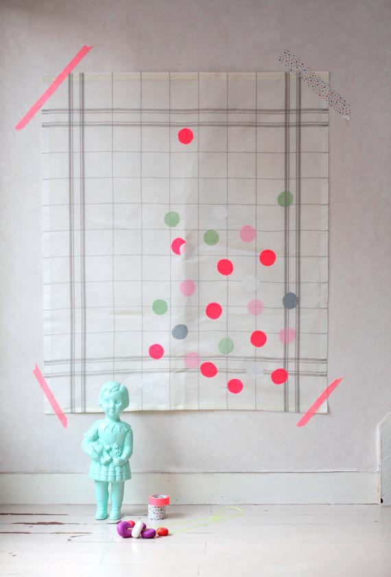 DIY le torchon fluo - rosesucre.fr