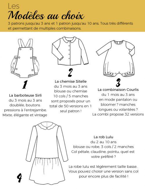 kit couture bébé a&a patrons